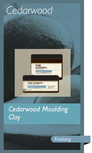 Cedarwood Moulding Clay 50ml & 100ml